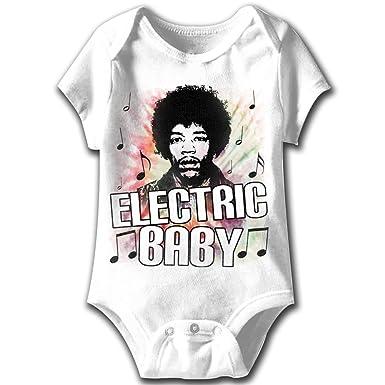 Amazon Com Jimi Hendrix Baby Romper New Electric White Infant