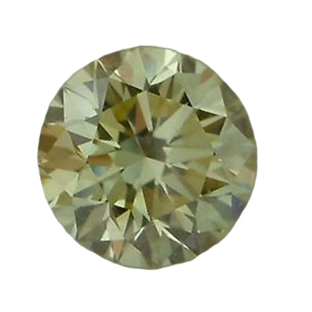 RINGJEWEL 1.77 CT VVS1 8.00 MM Round Cut Loose Real Moissanite Use 4 Pendant/Ring Off White Light Brown Color