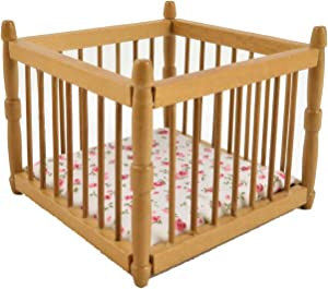 Melody Jane Dolls House Baby's Pine Playpen Miniature Nursery Furniture Play Pen