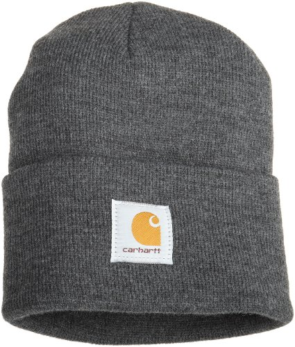 Carhartt Men's Acrylic Watch Hat A18, Coal Heather, One Size ()