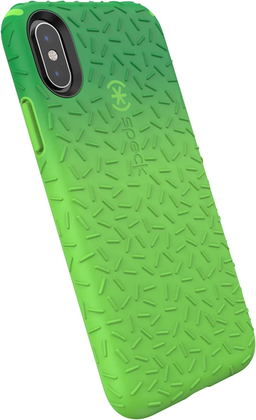 Speck Products iPhone Xs/iPhone X Case, CandyShell Fit, Forest Green Ombre Slime Green