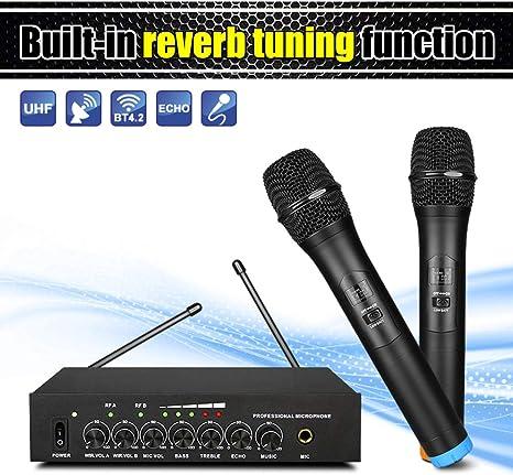 JSX Micrófono Inalámbrico UHF con Metal Micrófono Dinámico De Sistema De Cine Altavoz del Ordenador Smart TV con Cable Extra: Amazon.es: Deportes y aire libre