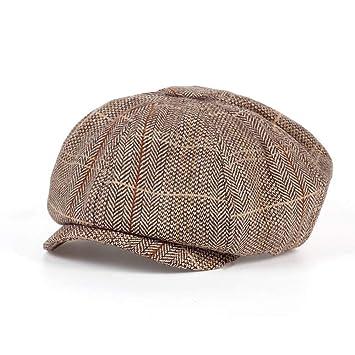 ERQINGBM Boina Fashion Gentleman Octogonal Cap Newsboy Beret Hat ...