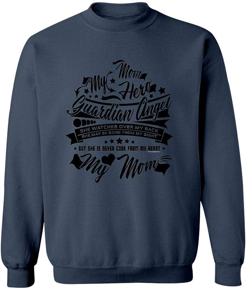 Sweatshirt Navy My MOM Hero Guardian Angel She Watches Over me Gift Idea