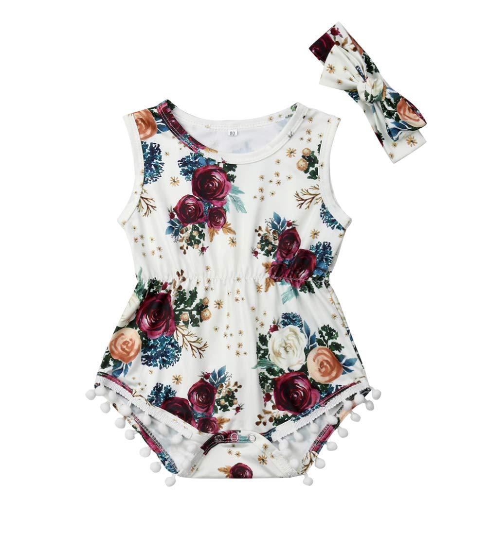 Newborn Kids Baby Girls Clothes Floral Jumpsuit