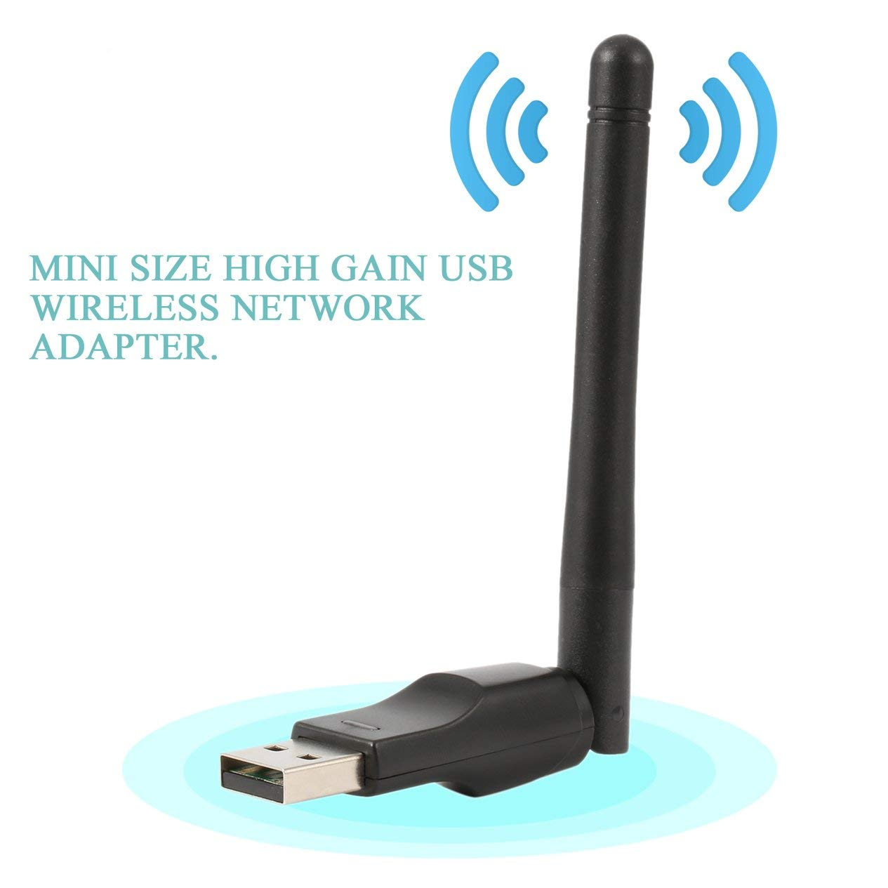 Wireless WiFi Network Adapter 150M USB Network Card for PC Laptop WiFi Receiver External Wi-Fi Dongle Antenna