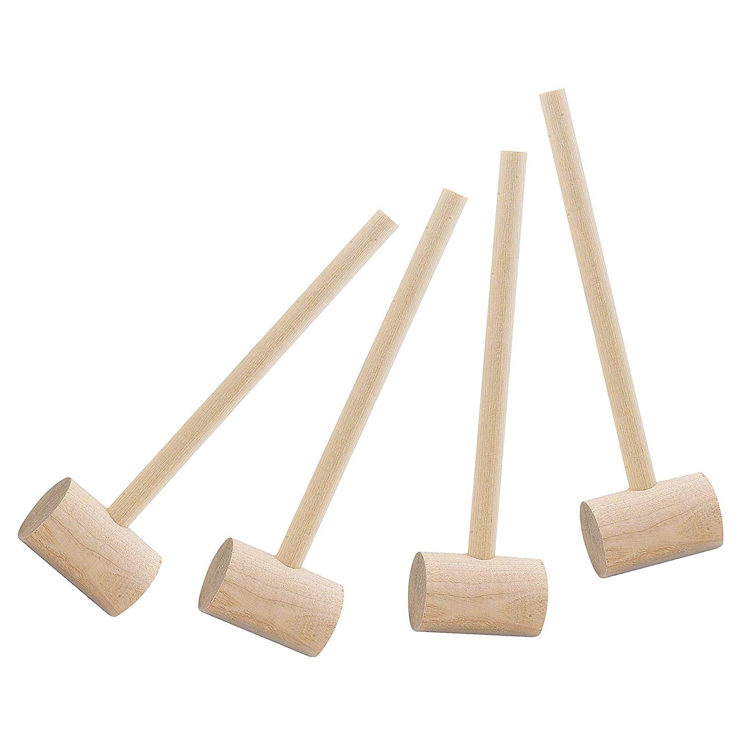 KAIMENG Crab Mallets Natural Hardwood Set of 4 (20CM)