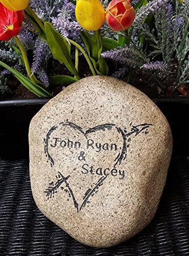 God Rocks Forever in Love Garden Stone -