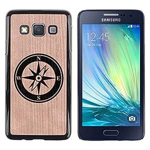 - / Boat Sea Compass North Stylish - - Funda Delgada Cubierta Case Cover de Madera / FOR Samsung Galaxy A3 a3000 / Jordan Colourful Shop/
