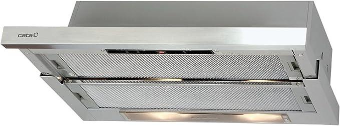 CATA Campana telescópica TF 5260 X con 3 niveles de extracción: Amazon.es: Grandes electrodomésticos