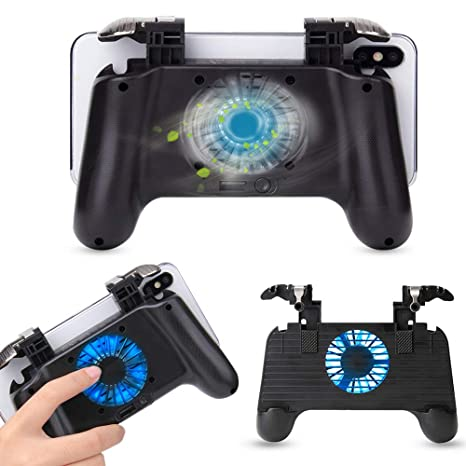 Gamepads Pubg Controller Turnover Button Gamepad Pubg Joystick For Ios Android Phone 6 Finger Operating Peripherals Pubg Games Controller Wide Varieties