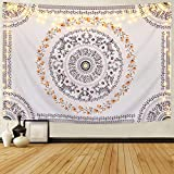 Sevenstars Bohemian Mandala Tapestry Hippie Floral Tapestry Sketched Flower Tapestry Art Print Tapestry for Room