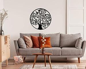 VinMea Tree of Life Birds, Metal Wall Decor, Metal Wall Art, Housewarming Gift, Home Decor,Address Number, Interior Design 18 Inch