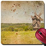 Liili Suqare Mousepad 8x8 Inch Mouse Pads/Mat Retro image of Medieval Windmill Photo 21227143