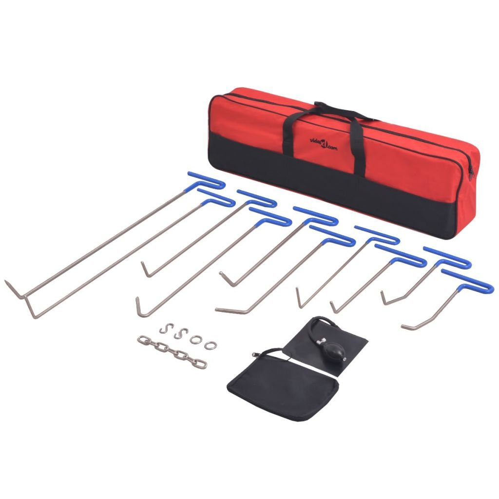 vidaXL 16-TLG Lackschadenfreier Ausbeulwerkzeug-Satz PDR-Werkzeug-Set Edelstahl