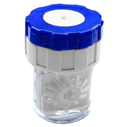 Vococal - 1 x Limpiador de Lentes de Contacto de Plástico Manual/Estuche de Limpieza de Lentillas para Uso en el Hogar y el Viajes