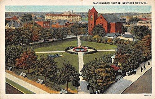 Newport News Virginia Washington Square Birdseye View Antique Postcard K2312