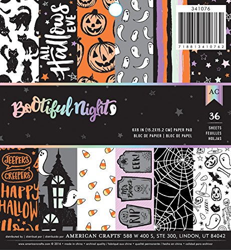 American Crafts BOOtiful Night 6 x 6 Inch 36 Sheet Paper Pad