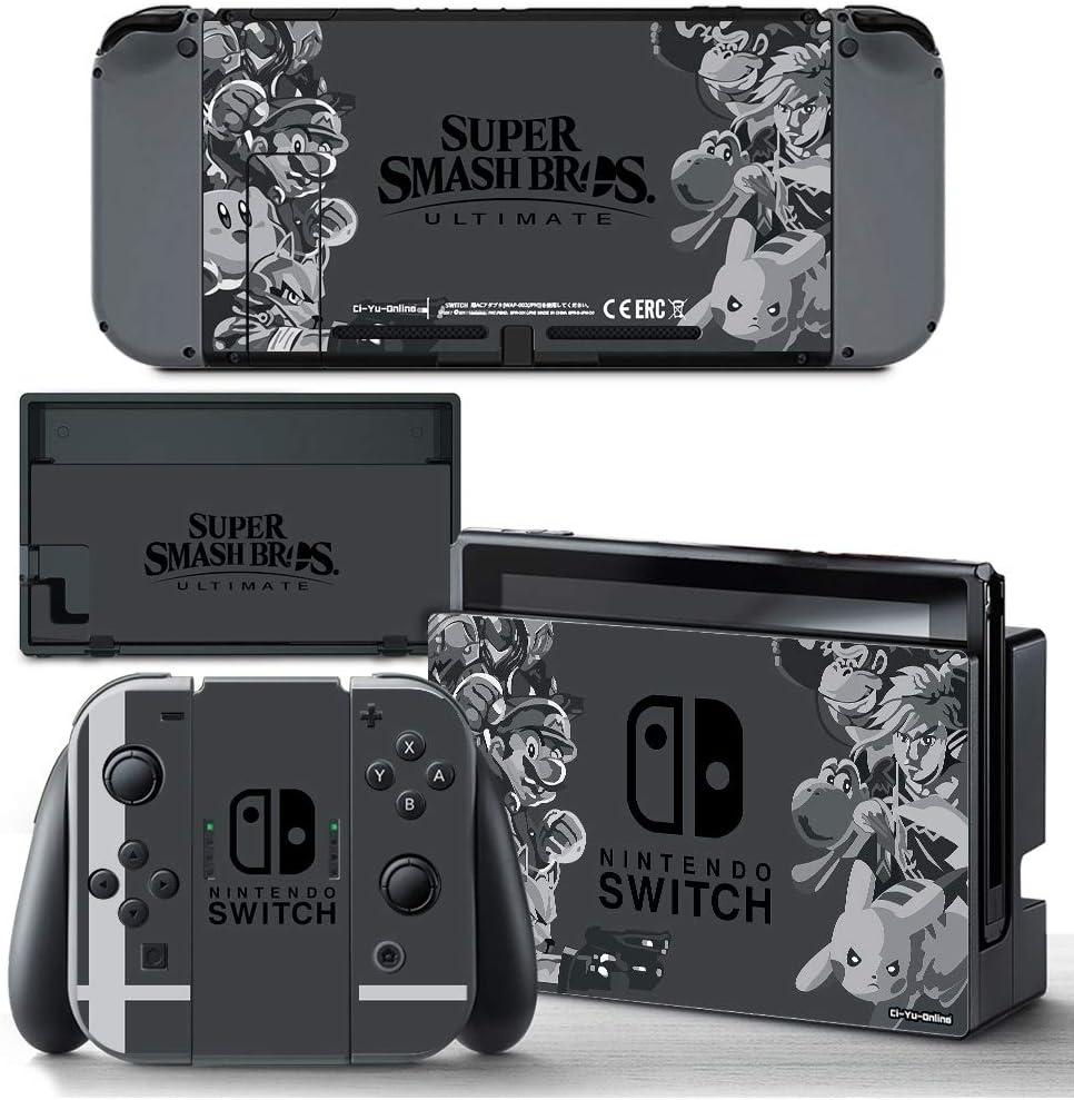 Ci-Yu-Online - Skin de vinilo, diseño de Super Smash Bros. Adhesivo para consola Nintendo Switch y controles Joy-Con: Amazon.es: Videojuegos