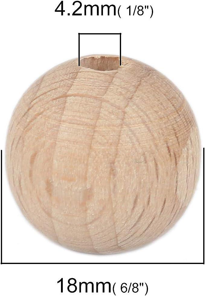 Natur 2 L/öcher mit B/äume Muster I Zum N/ähen 50 St/ück Runde Holzkn/öpfe 20 mm Basteln und Dekorieren SiAura Material