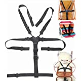 High Chair Straps, Universal High Chair Seat Belt/Straps/Harness/replacement for Wooden High Chair Stroller Pushchair (Baby 5 Point Safety Belt)