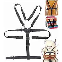 Imbracatura di sicurezza universale per seggiolone, cinghie per seggiolone in legno, passeggino (cintura di sicurezza a 5punti)