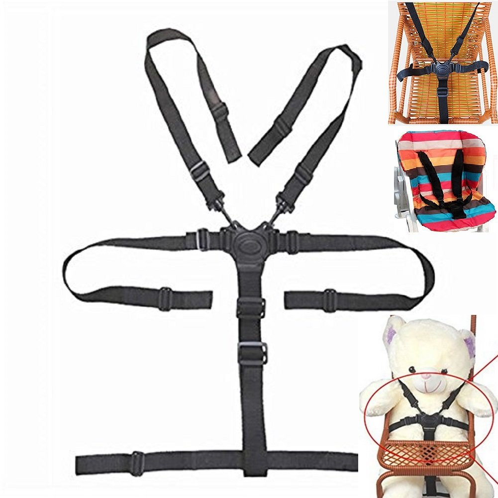 Fine High Chair Straps Universal High Chair Seat Belt Straps Harness Replacement For Wooden High Chair Stroller Pushchair Baby 5 Point Safety Belt Short Links Chair Design For Home Short Linksinfo