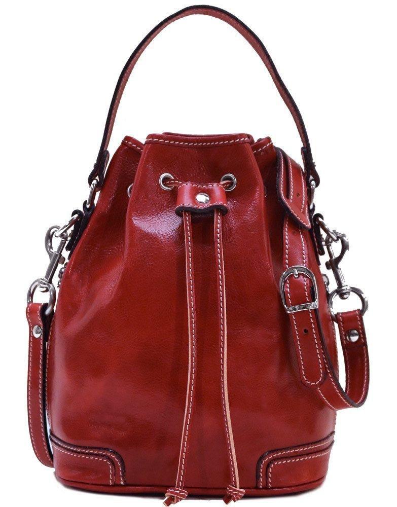 Floto Luggage Soft Lining Ciabatta Satchel, Tuscan Red, Small