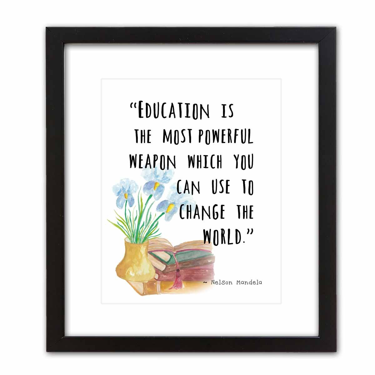 8/×10, MALALA YOUSEFZAI Ready-to-Frame Educational Wall Art Prints Featuring Famous Quotes: