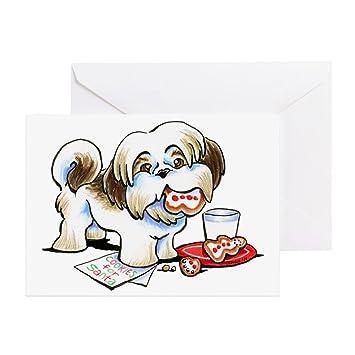 Amazon Cafepress Shih Tzu Cookies Greeting Cards Greeting