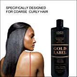 Gold Label Professional Brazilian Keratin Blowout Hair Treatment Super Enhanced Formula Specifically Designed for Coarse,