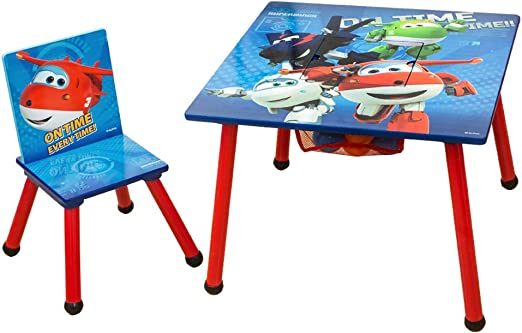 HS-Lighting 2 Piezas. Juego de Mesa y sillas Infantiles de Madera ...
