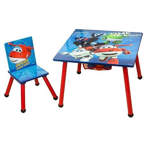 Super Wings - C3DZY002 - Juego de mesa y sillas infantiles (madera ...