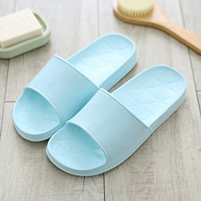 6284fd88d24ebb ZZHF Bathroom Couple Home with Cool Slippers Female Thick Anti-Skid Bath  Shoes Summer Indoor Home Slippers (5 Colors Optional) (Size Optional)  Slippers  ...