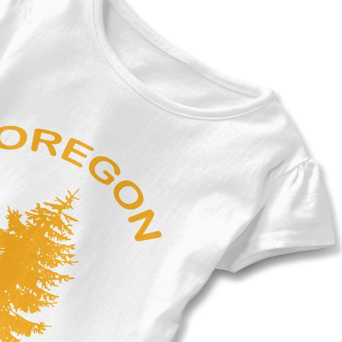 Toddler Girls Ruffle T-Shirt Oregon Douglas Pine Tree Short Sleeve 2-6T