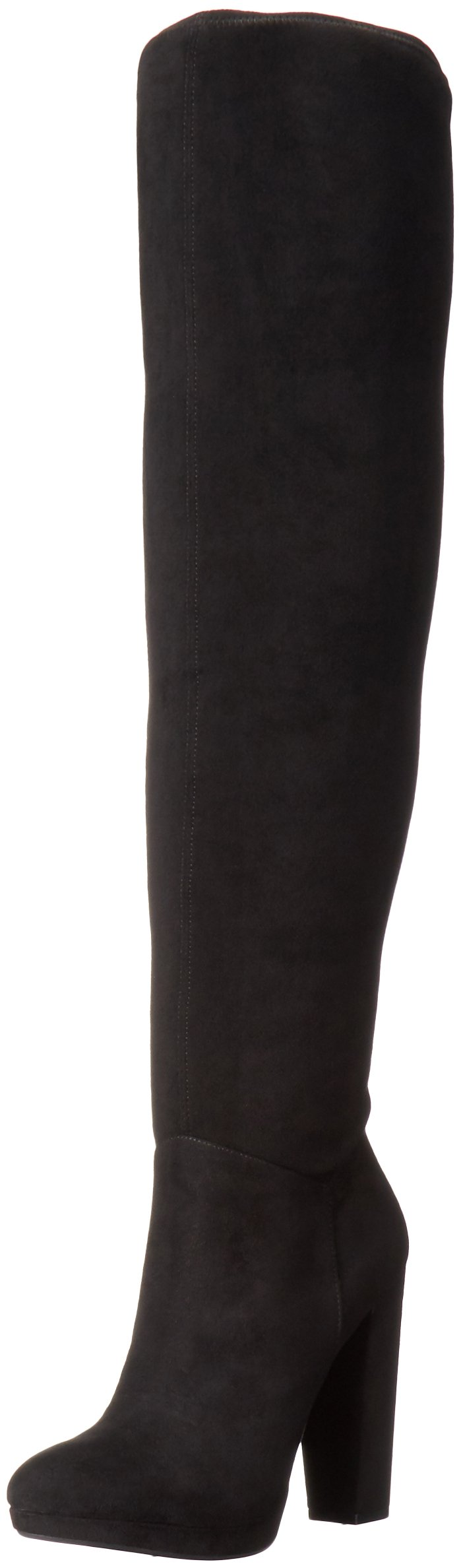 Jessica Simpson Women's Grandie Winter Boot, Black/Black, 8 M US