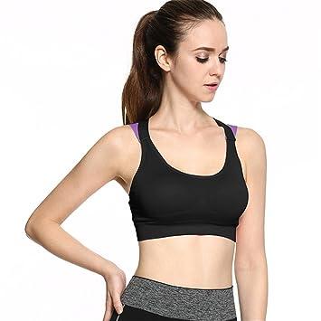 iBaste Sujetador Deportivo Mujer Bra Deportivo de Yoga Ropa Interior Running a Prueba de Choques Chaleco