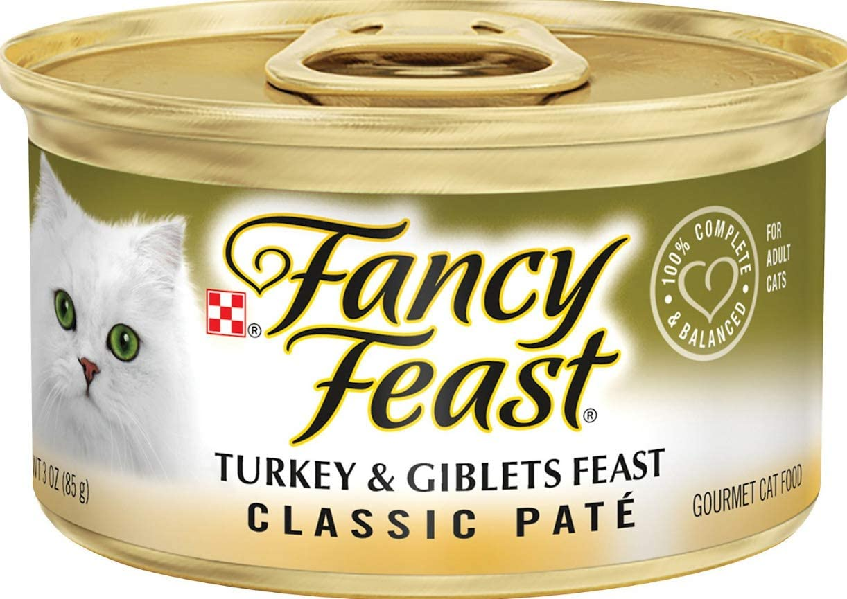 30 Cans of Fancy Feast Classic Turkey & Giblets Feast Canned Cat Food, 3-oz ea