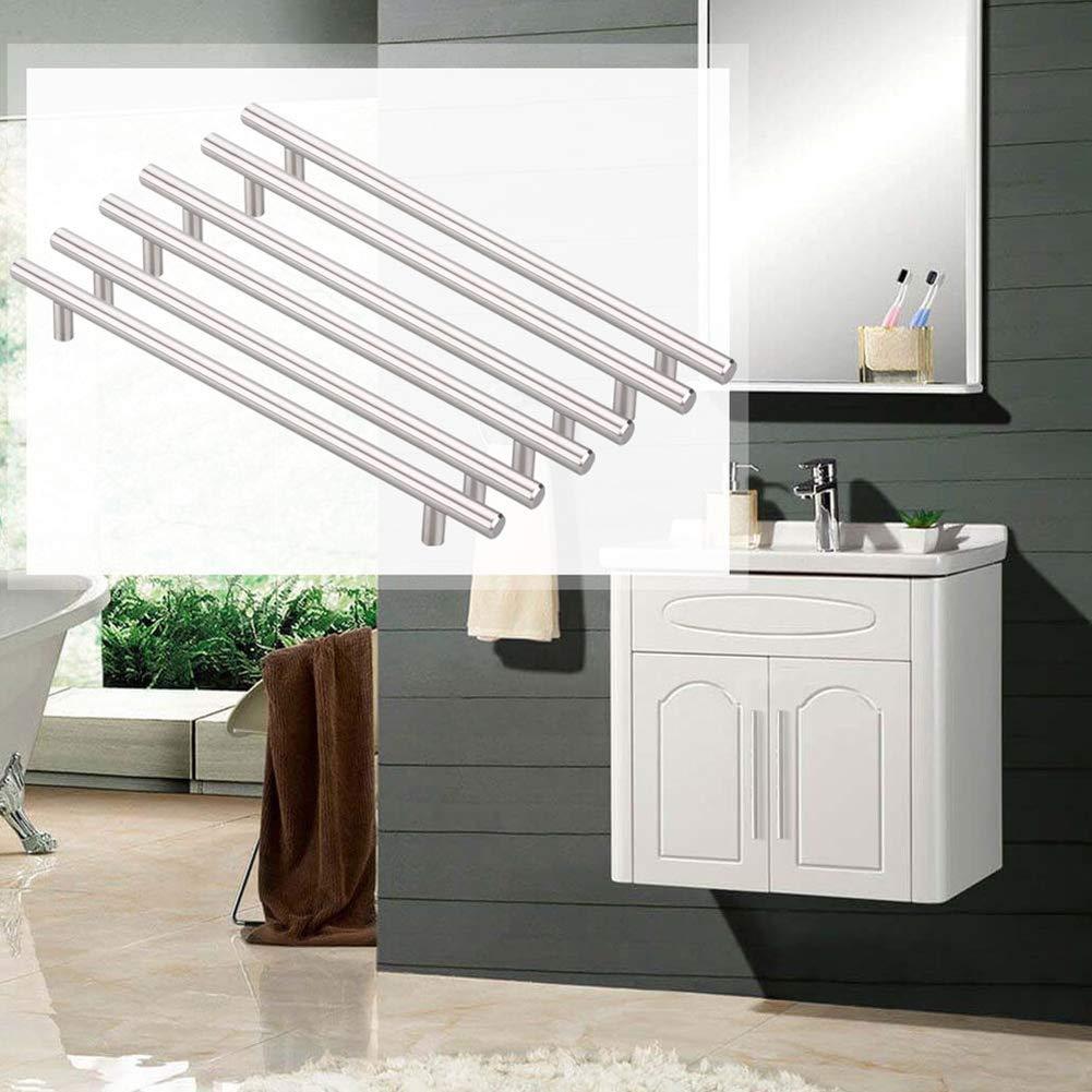 Pomo de acero inoxidable de 12 mm para puerta de cocina As Picture manillar de barra en T 12 * 50mm caj/ón de coleccionista