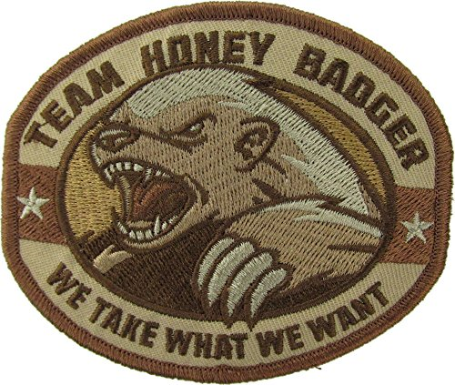 Extreme Sports Appliques (Honey Badger Morale Patch (DESERT))