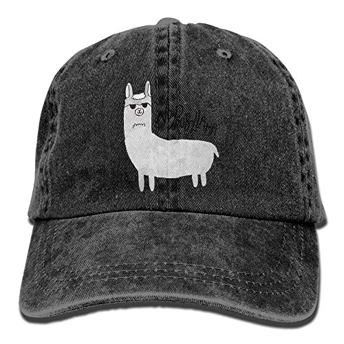 Qbeir Adult Cowboy Cap Hat No Prob Llama Adjustable Cotton Denim Sunscreen Fishing Outdoors Retro (Misses Halloween Pajamas)