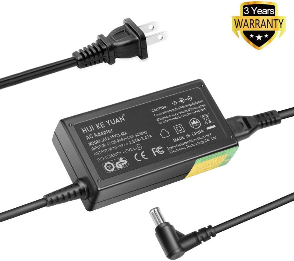 TFDirect 19V 65W AC DC Adapter Charger for LG Electronics 19'' 20'' 22'' 23'' 24'' 27'' 29'' LED LCD Monitor Widescreen LED LCD HDTV Replacement Switching Power Supply Cord Charger