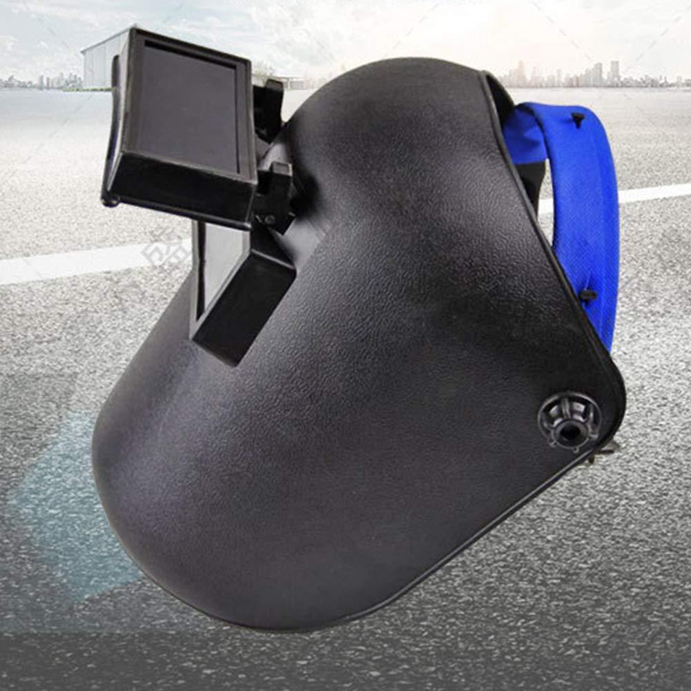 Head-Mounted Welding Helmet Adjustable Welder Mask with UV Resistant Eye Glasses,Protect Welders Face Eye Injury