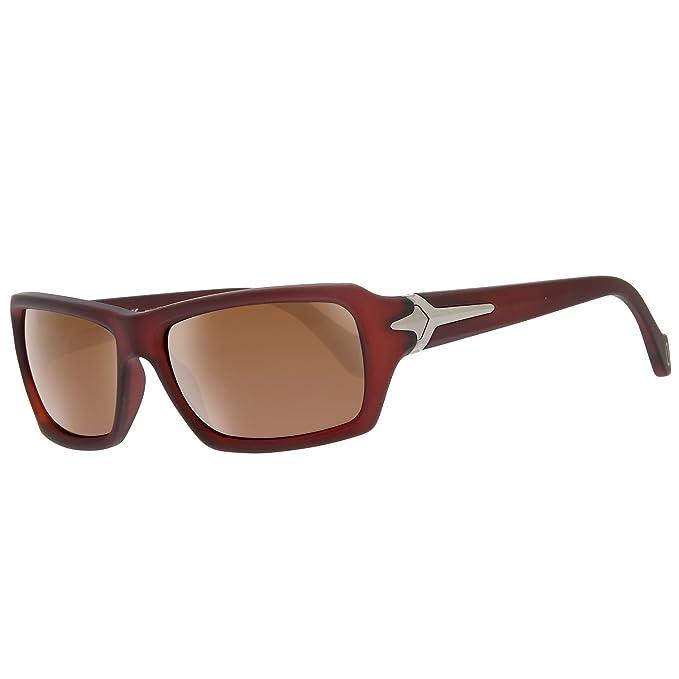 Police Gafas de Sol S1710-Z55P (53 mm) Marrón Oscuro: Amazon ...