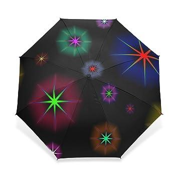 baihuishop resistente al viento Golf Paraguas, compacto para viajes por fácil de llevar deportes lluvia
