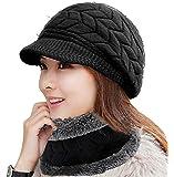 EDOTON Sombreros de Invierno para Mujeres Niñas Gorros de Punto Caliente de Punto de Esquí Cráneo Sombreros Primavera…