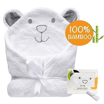 Amazon.com: Toalla de bebé con capucha orgánica, 100% bambú ...