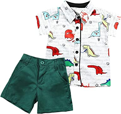 Haokaini Baby Boy Tops Conjuntos Cortos Set Pantalones Cortos ...
