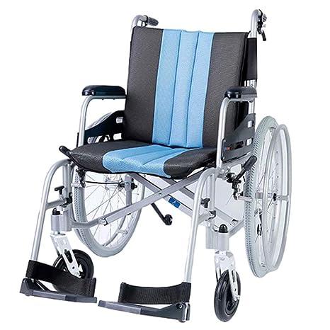 Sedia a Rotelle Pieghevole Leggere per Scooter in Lega di Alluminio