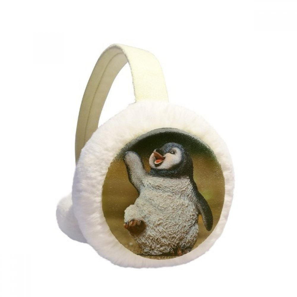 Creature Antarctic Cute Penguin Science Nature Winter Earmuffs Ear Warmers Faux Fur Foldable Plush Outdoor Gift DIYlab sku00881185b873158f17289